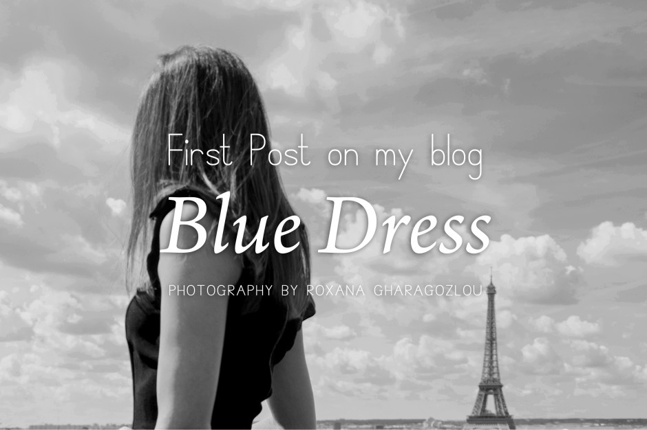 jupon & macaron : blue dress
